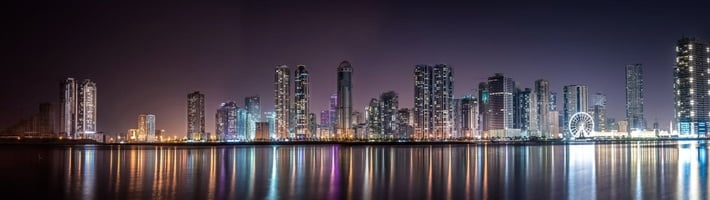 City Skyline at Night | C Enterprises