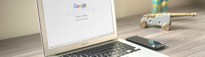 Laptop at Google Website | Pure Flix